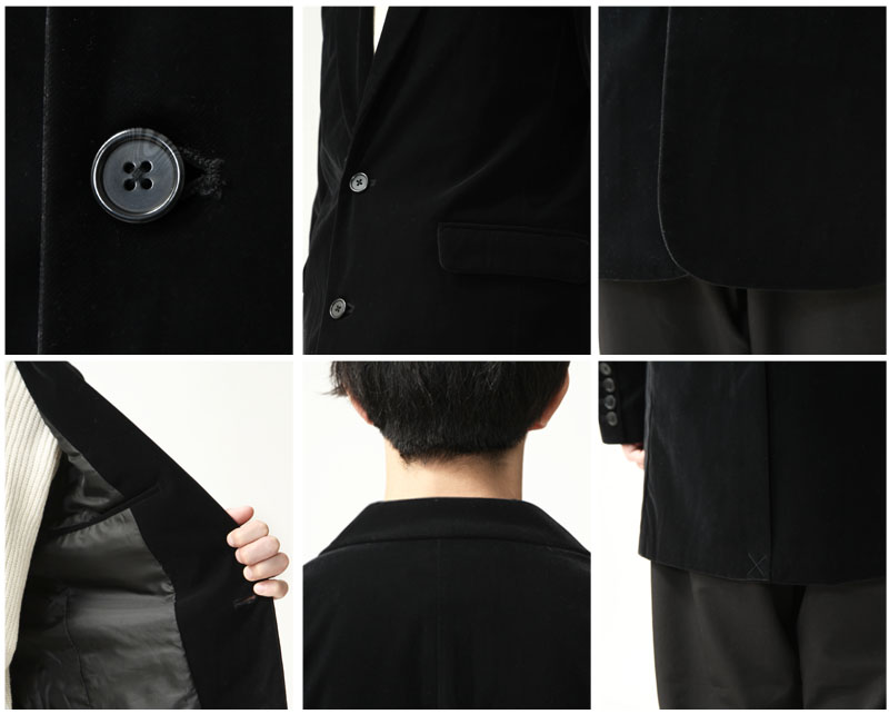 絲絨長版大衣
