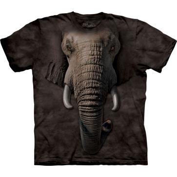 『摩達客』[ 預購 ](大尺碼3X)美國進口【The Mountain】Classic自然純棉系列 象臉 設計T恤