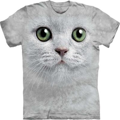 『摩達客』[ 預購 ]美國進口【The Mountain】Classic自然純棉系列 綠眼貓臉設計T恤