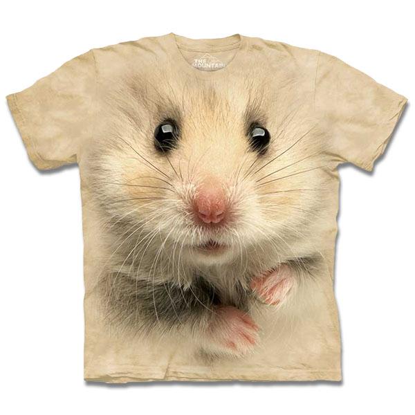 『摩達客』[ 預購 ]美國進口【The Mountain】自然純棉系列 倉鼠臉 T恤