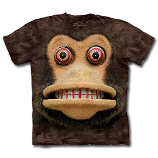 『摩達客』[預購] 美國進口【The Mountain】自然純棉系列 玩具猴臉 設計T恤