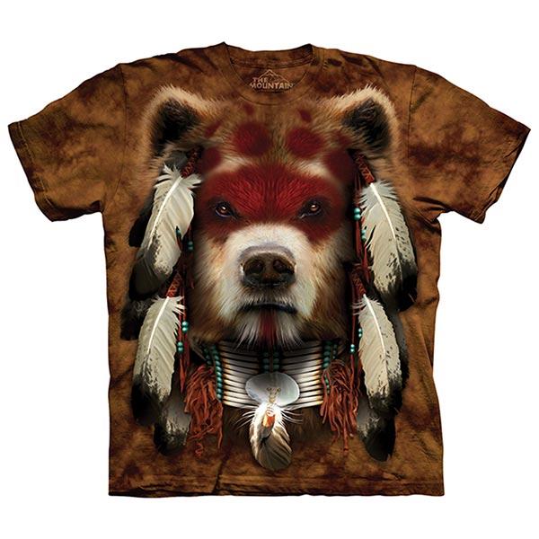 【摩達客】(預購)(大尺碼3XL)美國進口The Mountain 熊勇士 純棉環保短袖T恤