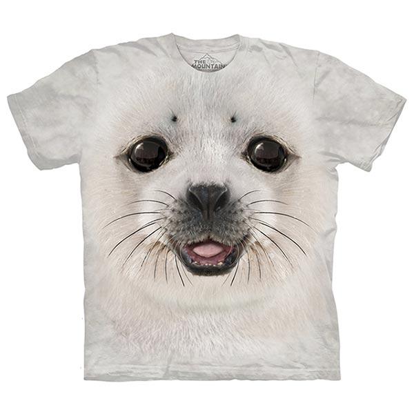 【摩達客】(預購)美國進口The Mountain 海豹寶寶 純棉環保短袖T恤