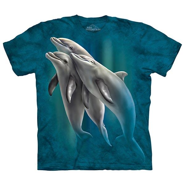【摩達客】(預購)美國進口The Mountain 海豚戲水 純棉環保短袖T恤