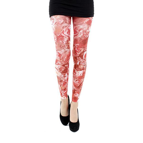 『摩達客』英國進口義大利製【Pamela Mann】紅薔薇 內搭褲九分褲襪/無足褲襪
