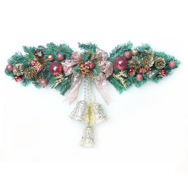 聖誕幸福雙鐘裝飾樹藤(紅金色)(大型)(壁飾門飾)YS-XDV160006