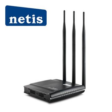 【迪特軍3C】netis WF2409D 9dbi 3天線 黑極光無線寬頻分享器300MB 美商Broadcom無線晶片