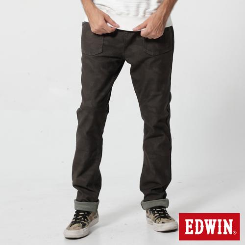 【2000元優惠↘】EDWIN JERSEYS 迦績迷彩CARGO褲-男款 橄欖綠