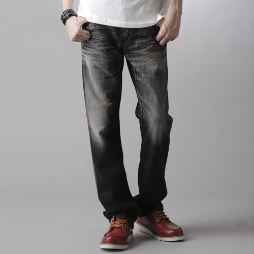 【SUPER SALE。丹寧單一價590↘】輕鬆牛仔 EDWIN 503 EDGE LINE 中直筒牛仔褲-男款 灰色【單筆滿888結帳輸入 SS_20161207→現折100元】