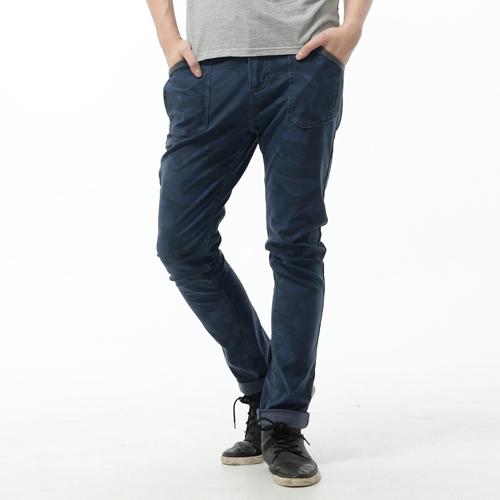 【2000元優惠↘】EDWIN JERSEYS 迦績迷彩CARGO褲-男款 寶石藍