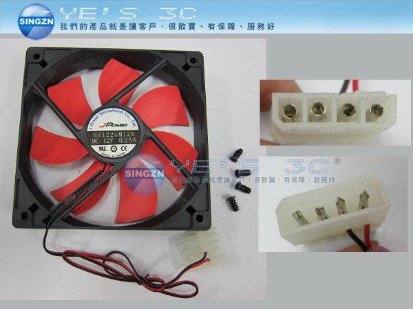 「YEs 3C」全新 J-POWER 杰強 風系列 12cm 4pin 風扇 電腦系統風扇 含稅  yes3c