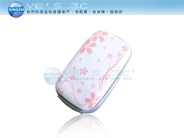 「YEs 3C」相機 MP3 MP4 適用硬殼包 腰掛/頸掛式 兩用 相機包 附頸掛帶 櫻花白 yes3c 4ne