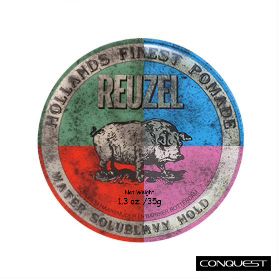 Reuzel 1.3oz/35g 小豬油 旅行罐 隨身罐 粉紅豬 藍豬 綠豬 紅豬 水洗式髮油 油性髮油 O\