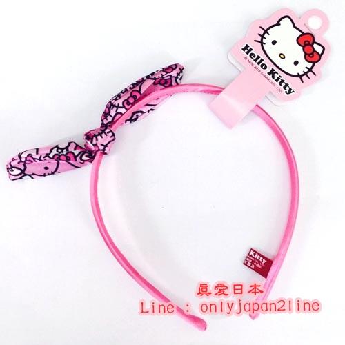 【真愛日本】16093000057可愛兔耳髮箍-KT粉 三麗鷗 凱蒂貓 KITTY 髮圈 大人小孩都適用