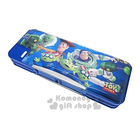 〔小禮堂〕迪士尼 玩具總動員 多功能筆盒《藍.巴斯.胡迪..三眼怪》雙開式