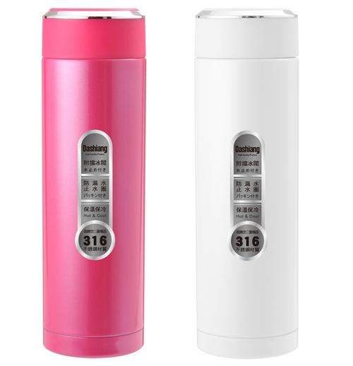 【RV運動家族】Dashiang 450ML真水概念保溫瓶(白、粉兩色)