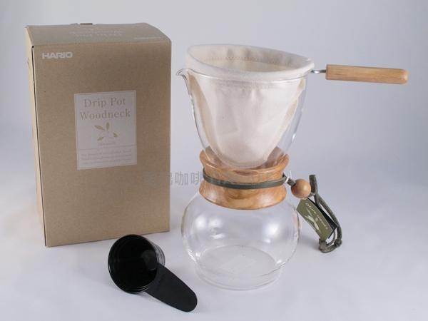 《愛鴨咖啡》HARIO DPW-3-OV 橄欖木 法蘭絨 濾布含支架 手沖壺 1-4杯份 贈更換濾布3片