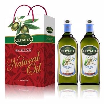 【玫瑰海】Olitalia 奧利塔玄米油禮盒1L*2