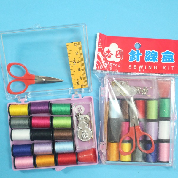 台灣製杏圃大針線盒 C1VQ056 針線包組(大透明壓克力盒)/一盒入{促40}~秉
