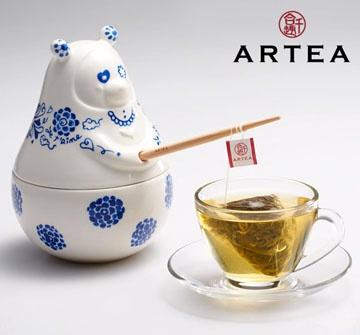 ARTEA愛青瓷Tea熊罐(阿里山仙霧高山茶)3gX12包/華視介紹/華視新聞雜誌