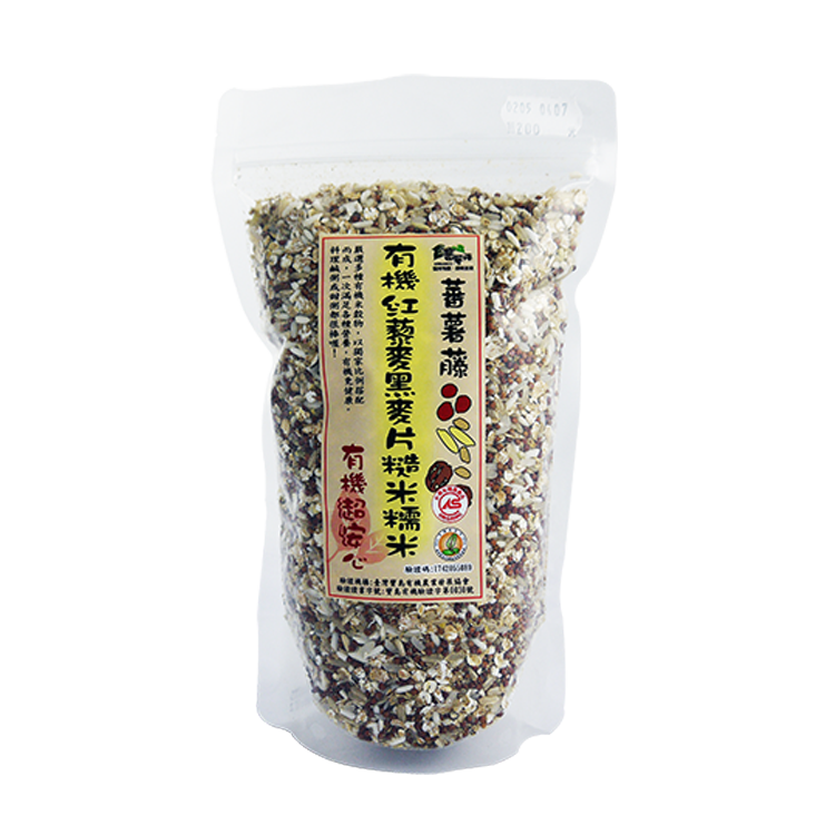 [蕃薯藤有機]有機紅藜麥黑麥片糙米糯米