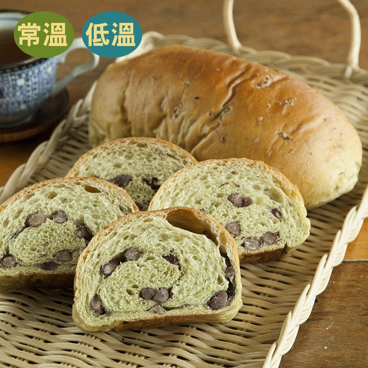[蕃薯藤]抹茶紅豆麵包(T-W/C)我們用心的從日本挑選出日本丸山抹茶粉作為此款麵包的基底,加上自家熬煮紅豆餡與自家製天然酵母魯邦菌種發酵的麵包,吃的到抹茶香與天然紅豆甜~