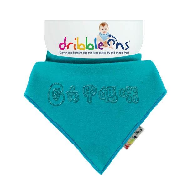 英國Skibz小牛仔領巾 / 藍綠 圍兜/口水巾【六甲媽咪】