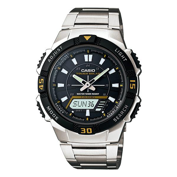 CASIO AQ-S800WD-1EVDF太陽能經典雙顯流行腕錶/42mm