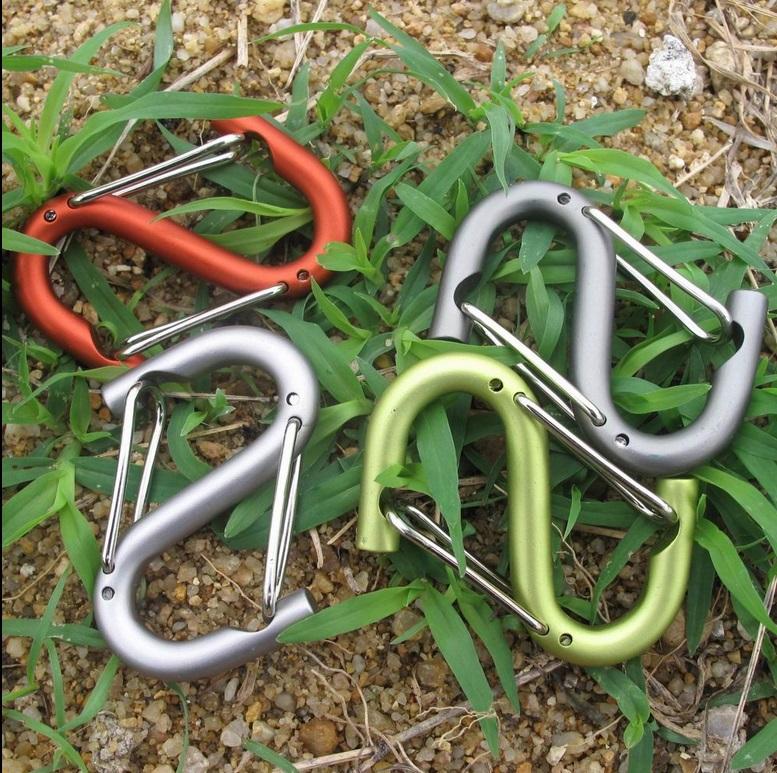 鋁合金 S型 快掛 營繩掛鉤 瓶掛扣 掛鉤 掛勾  露營 鑰匙扣