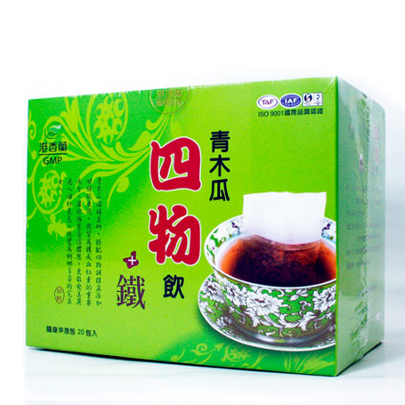 港香蘭 青木瓜四物飲+鐵 20包/盒 公司貨中文標 PG美妝