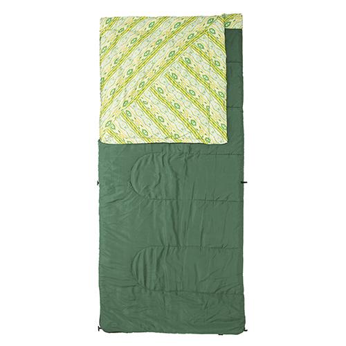 【露營趣】中和 美國 Coleman COZY 亮綠睡袋/C10 全開式中空纖維溫和內裡 纖維睡袋 露營睡袋 CM-16927