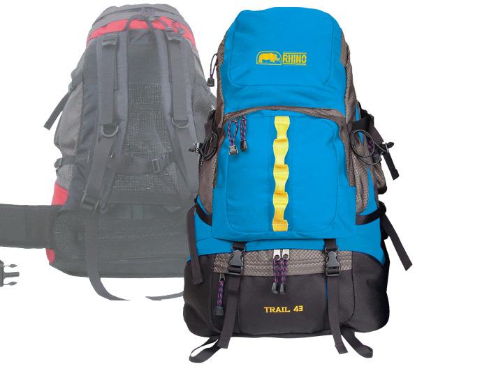 【露營趣】RHINO 犀牛 G143 43公升 超輕 塑膠可調式透氣網架背包 登山背包 輕裝背包 自助旅行背包 休閒背包 背包客 遊學