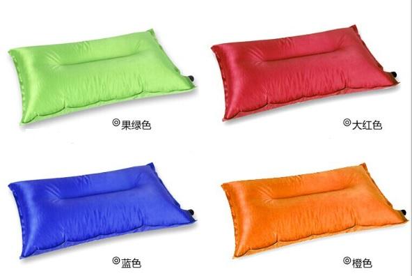 【露營趣】 中和 TNR-010 抗撕裂格紋布 自動充氣枕頭 充氣枕頭 露營枕頭 充氣枕 非Foam-Tex NatureHike-NH
