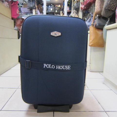 ~雪黛屋~POLO-HOSE 28寸行李箱可加大容量固定束帶硬式蜂巢板平穩好推拉尼龍布鋁合金拉桿#590620藍紅