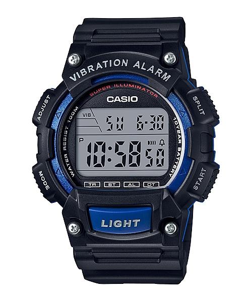 CASIO G-SHOCK W-736H-2A 數位10年電力腕錶/黑藍47mm