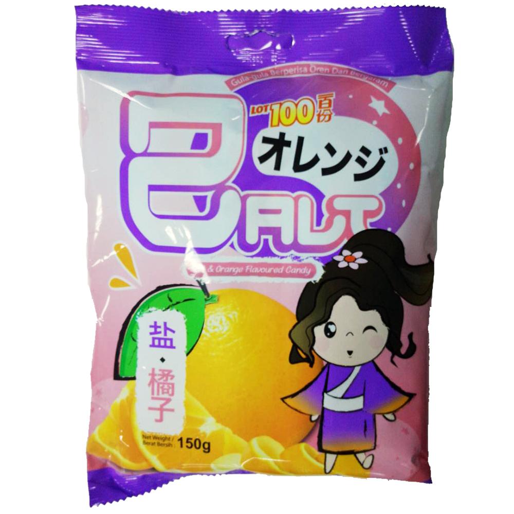 一百份鹽味鮮橙水果糖─150g
