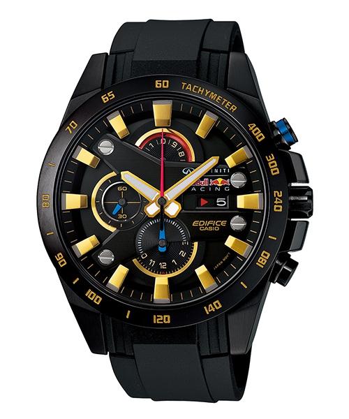 CASIO EDIFICE EFR-540RBP-1A 紅牛3D賽車時尚流行腕錶/黑面48mm