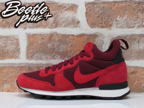 女生BEETLE NIKE INTERNATIONALIST 紅色 酒紅 麂皮 松本惠奈 慢跑鞋 683967-600