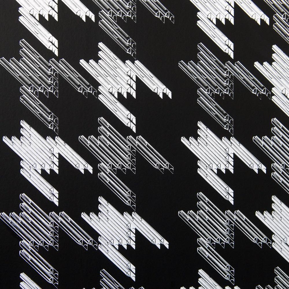Moody Monday The Secret Music - Black Keys White on Black 壁紙 【一套六卷】 「訂貨單位52cm x 10m /套(一套六張壁板)」