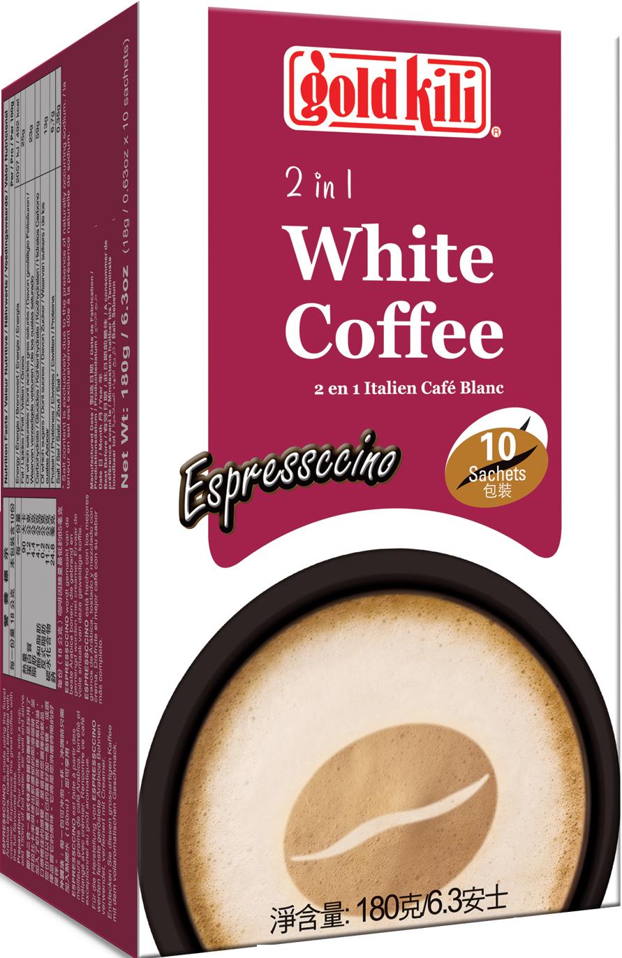 金麒麟意式特濃奇諾白咖啡-18公克*10包/盒