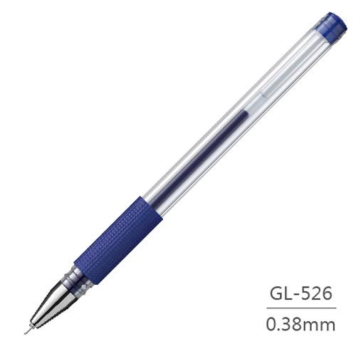 【雄獅】 GL-526 藍 0.38mm 中性筆 (12支/盒)