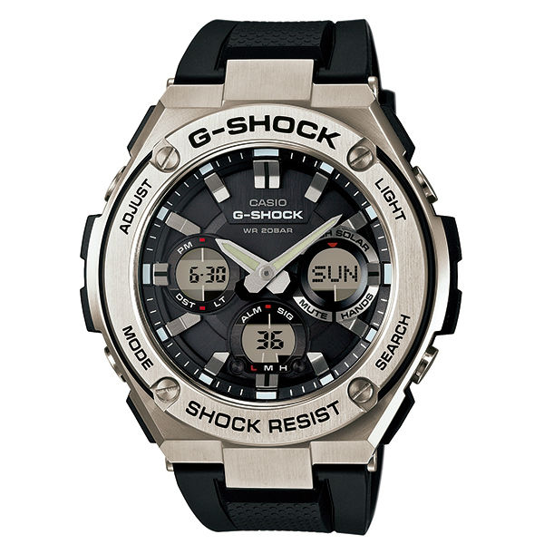CASIO G-SHOCK GST-S110-1A絕對強悍雙顯腕錶/52.4mm