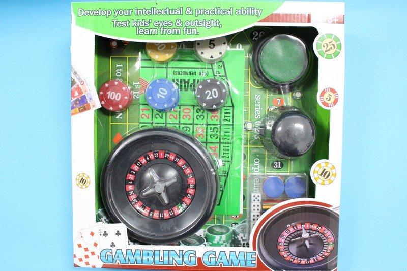 俄羅斯輪盤 88150A 百家樂玩具組(中)/一盒入{促250}