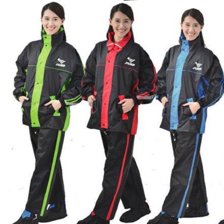 【巷子屋】【JUMP】雅仕套裝休閒風雨衣 兩件式 有內裡 [JP-0666A] 3色 超值價$750