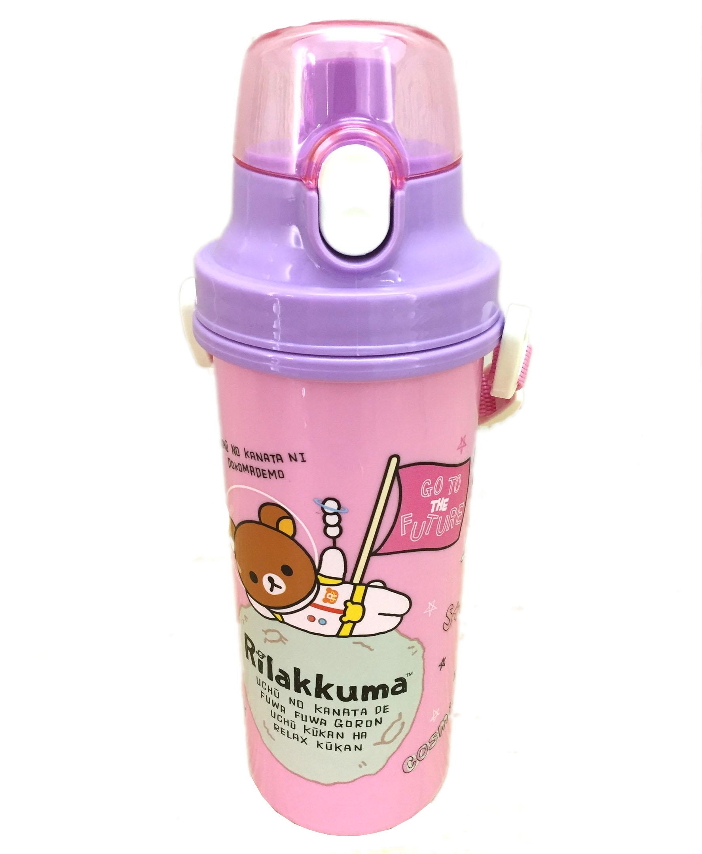 【真愛日本】16072700016拉拉熊680CC直飲水壺-太空粉   SAN-X 懶熊 奶熊 拉拉熊  水壺 水瓶 生活用品 卡通水壺