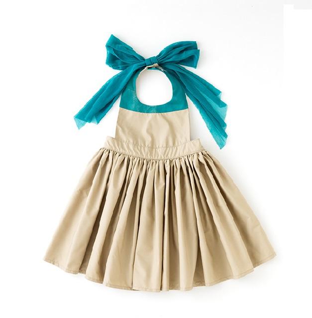 日本【MARLMARL】bouquet兒童圍裙圍兜造型款(卡其100~110cm)