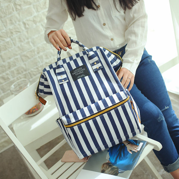 (預購)2016新款 日雜韓版大容量帆布背包 後背包 書包 旅行包 旅行袋 大包
