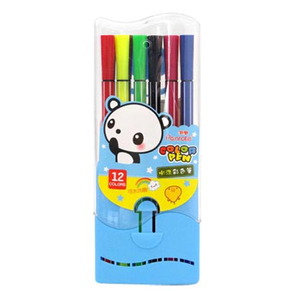 【888便利購】12色可水洗式彩色筆(台灣筆樂)