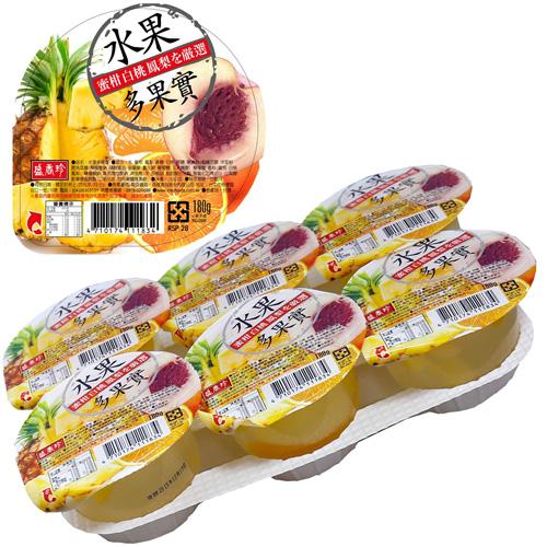 《盛香珍》綜合水果多果實果凍180gX24杯入(箱)