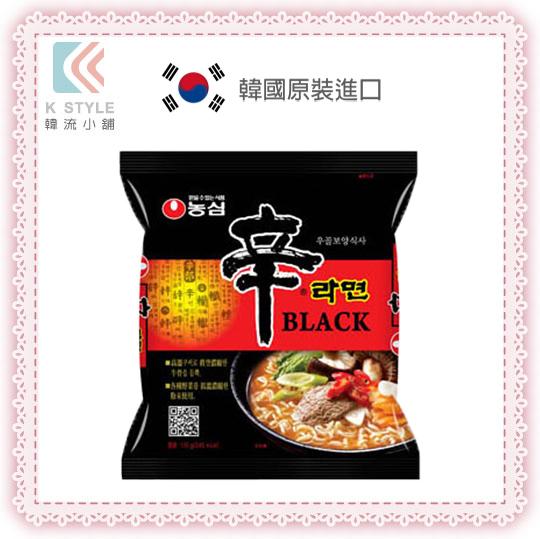 【 NONG SHIM 】 韓國原裝 黑色辛拉麵 單包裝 NONG SHIM 農心 正版韓國內銷